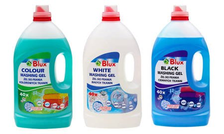 A set of gels for washing clothes 3x 4L