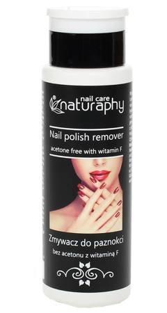 Non-acetone nail polish remover with vitamin F