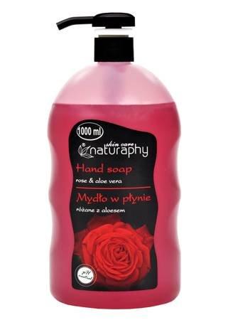 Mydło do rąk w płynie różane z aloesem 1L