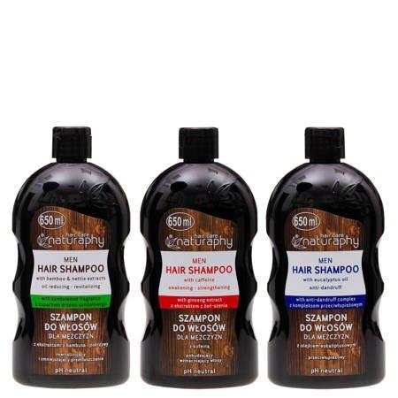 Zestaw szamponów dla mężczyzn 3x 650ml